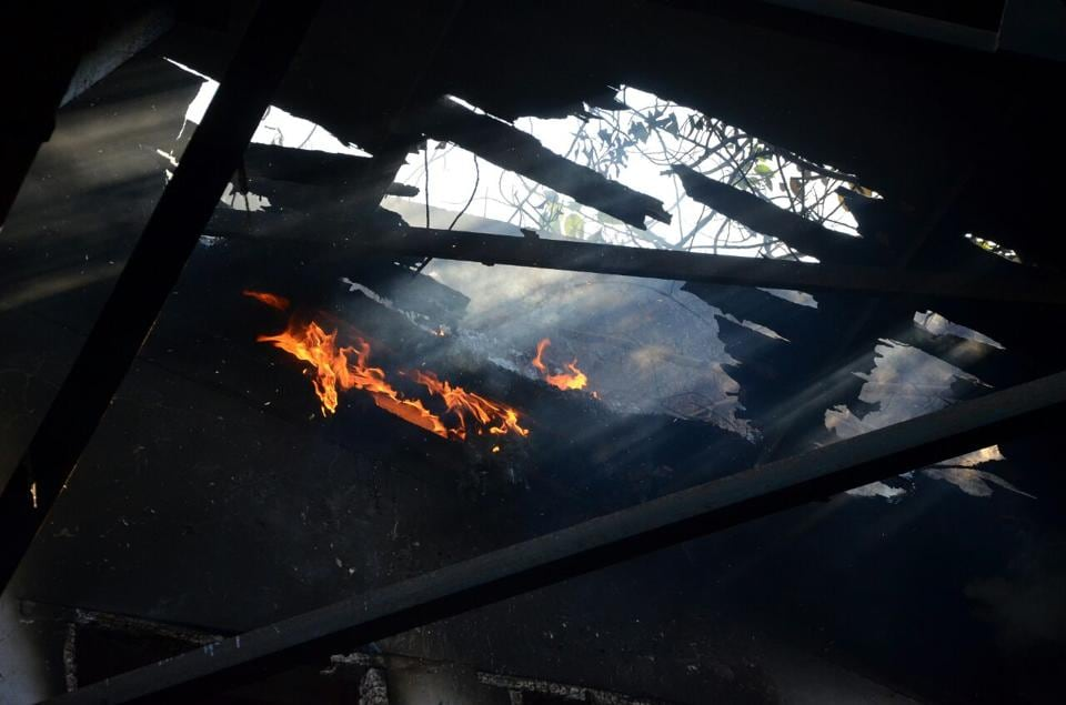A fire broke out in a closed company in the MIDC area of Digha in Navi Mumbai on Wednesday morning.