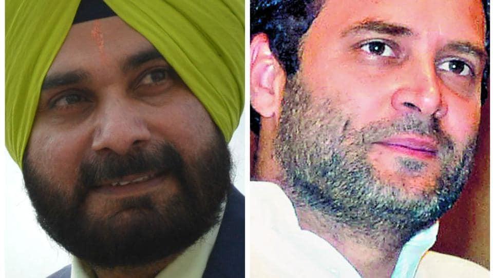 Navjot Singh Sidhu,Rahul Gandhi,discuss