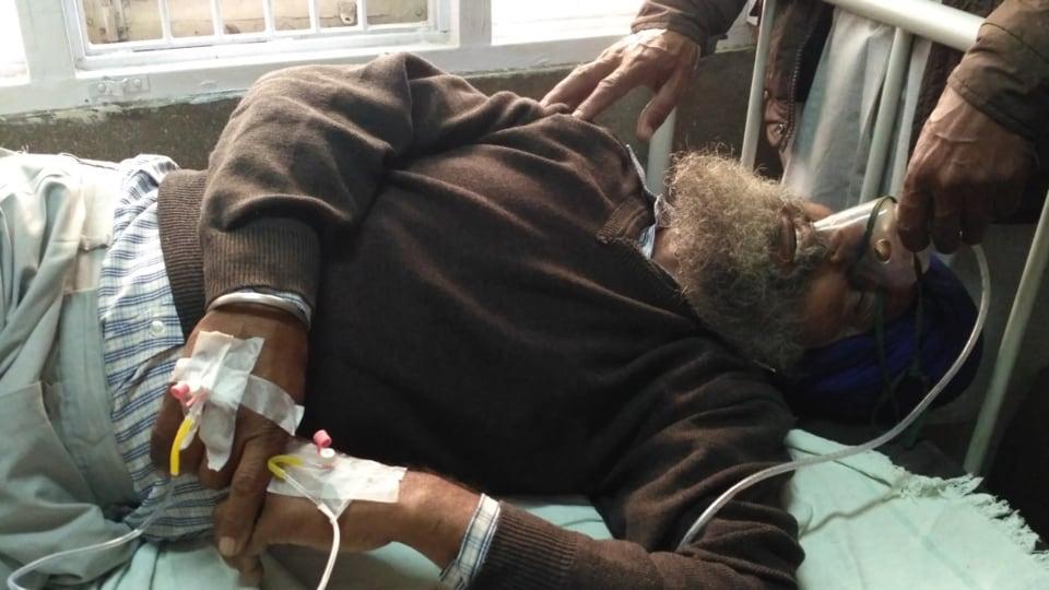 Darshan Singh in civil hospital Sangrur.