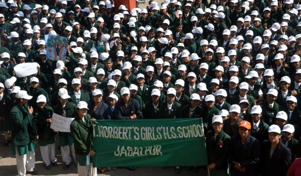 Schoolchildren took out a rally to spread the message of cleanliness in Jabalpur on Tuesday.