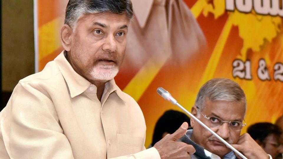 Andhra Pradesh chief minister  N Chandrababu Naidu speaks at a programme in Vijayawada on Wednesday, Dec. 21 2016.