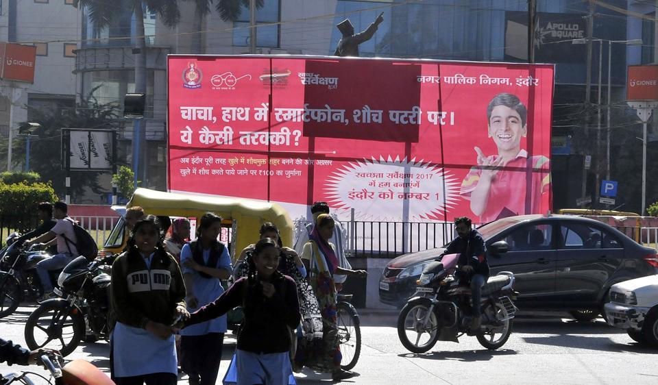 IMC has put up posters in several parts of Indore to create awareness among citizens about cleanliness.