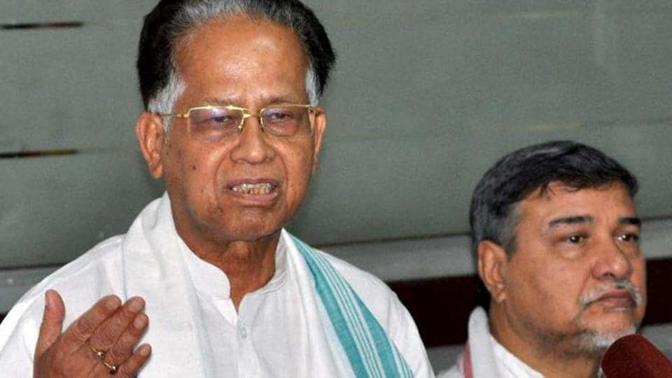File photo of former Assam chief minister Tarun Gogoi (left).