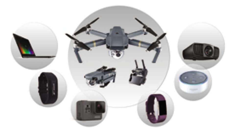 Amazon Echo Dot,Fitbit Charge 2,GoQii2