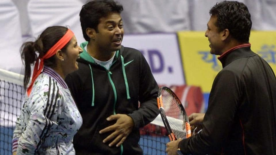 Mahesh Bhupathi (extreme right) will be India's new non-playing Davis Cup captain after the New Zealand tie in February 2017