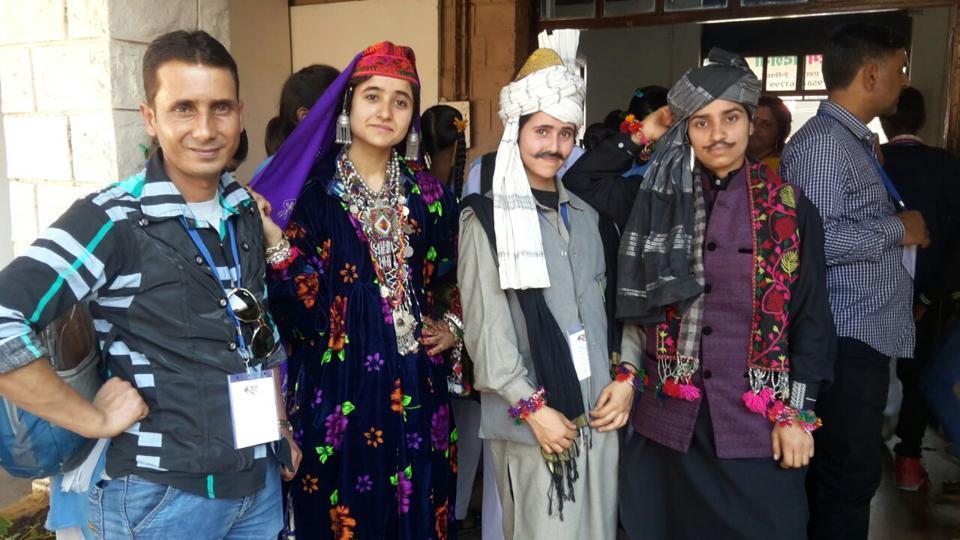 Kashmiri delegation at National Bal Rang fest in Bhopal.