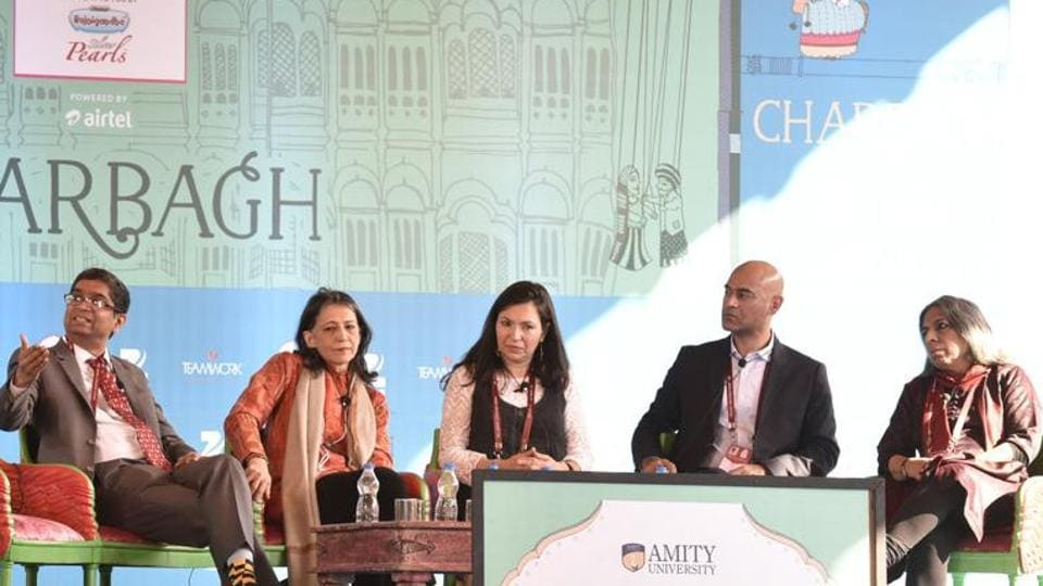 File photo of the 2016 Jaipur Literature Festival. Eyebrows are being raised at the inclusion of two RSSleaders in the speakers' list at the 2017 edition of the event.