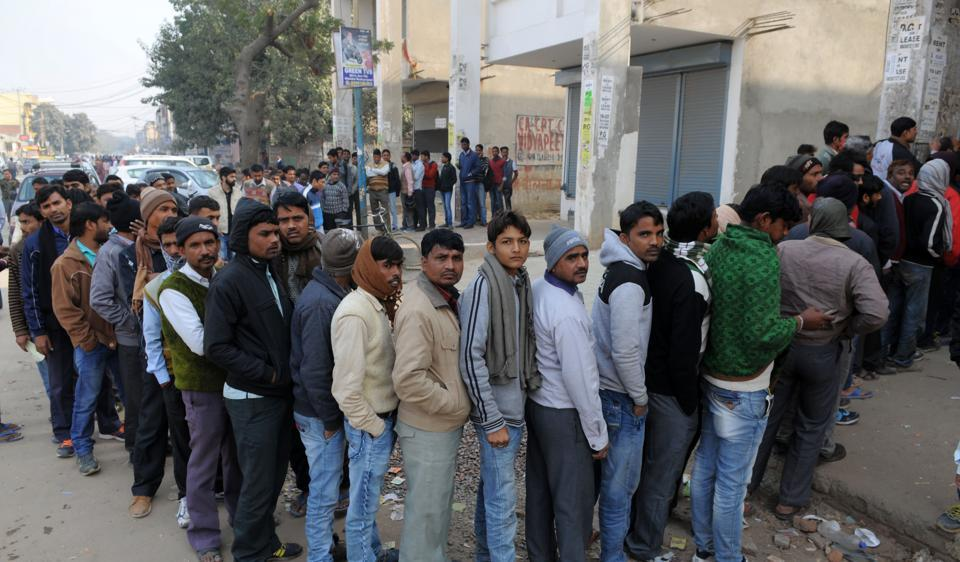 Police said barring a few commotions, the queues outside banks were catered to smoothly.