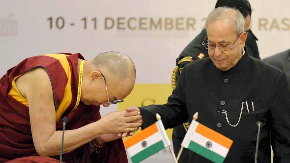 """Dalai Lama (left) who escaped from China in 1959 lives in exile in India and is considered by China as a """"separatist"""" and """"wolf in sheep's clothing""""."""
