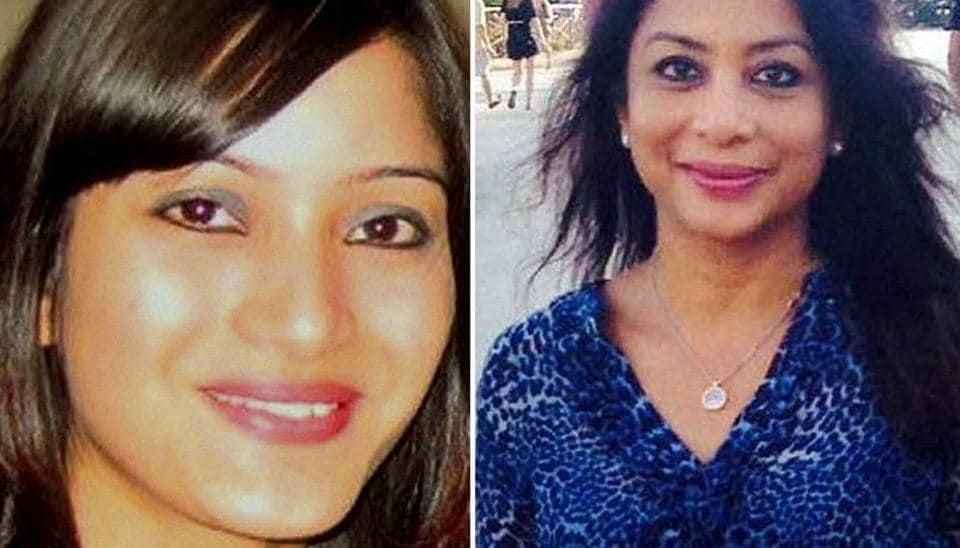 A combination photo of Indrani Mukerjea and her daughter Sheena Bora.