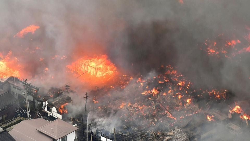 Japan fire,Blaze,Itoigawa