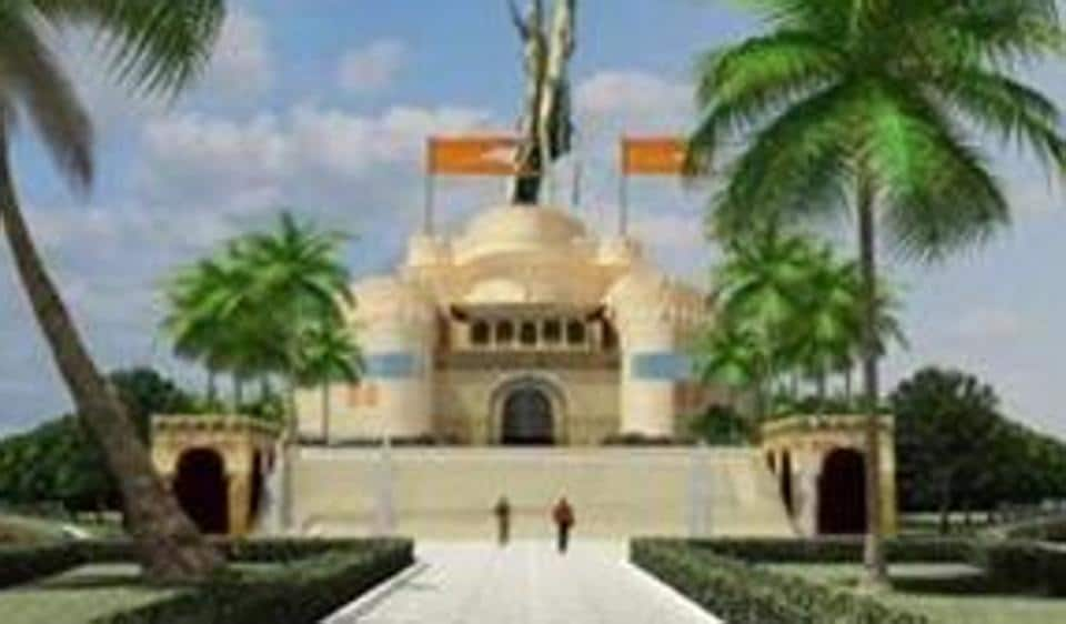 The main feature of the memorial will be a 192-metre-tall statue of the Maratha king.