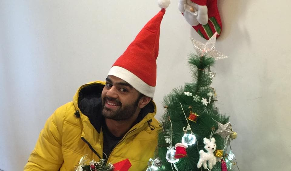 Actor Maniesh Paul is excited about his son Yuvann's first Christmas.