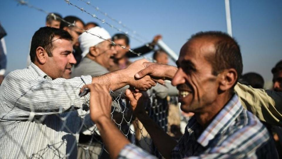 Some 100,000 people have fled Mosul since the Iraqi operation against IS began, and aid organizations have said they fear it could result in the displacement of more than a million people.