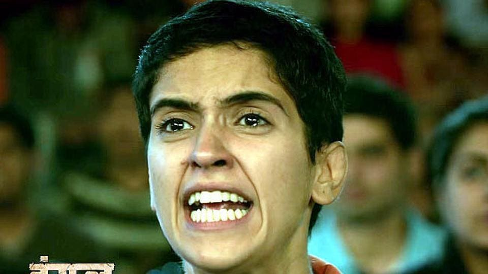 Sanya Malhotra plays Babita Phogat in Dangal.