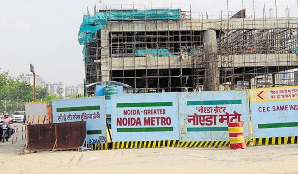 Greater Noida West metro project,Knowledge Park 5,Sector 71 Metro station