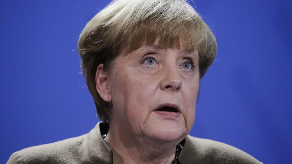 German Chancellor Angela Merkel briefs the media in Berlin, Friday, Dec. 23, 2016, after Anis Amri, the suspect of the terrorist attack on a Christmas market in Berlin was shot in Milan, Italy.