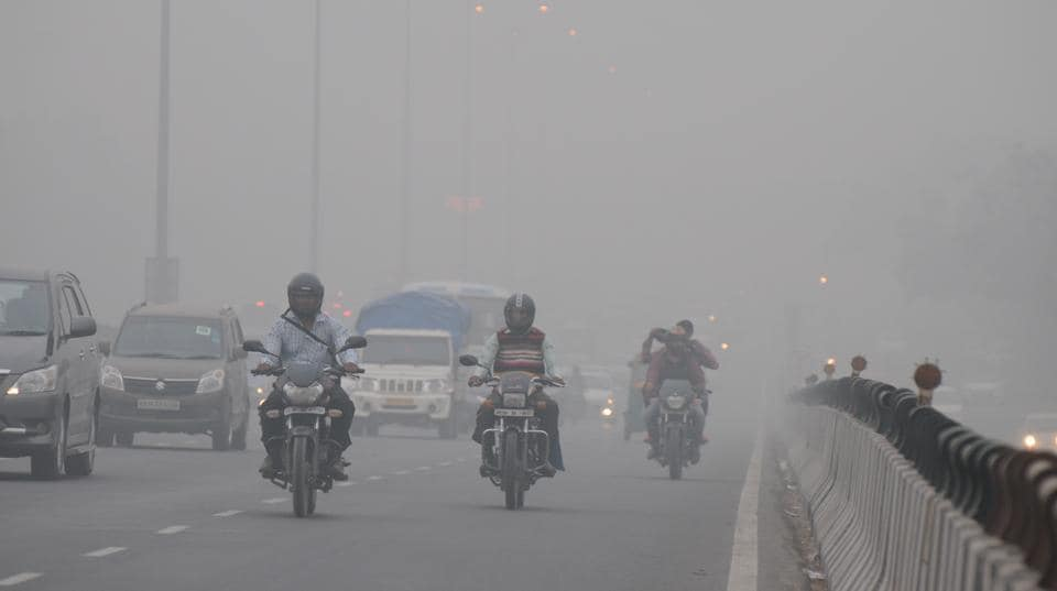 Visibility in the city was around 200 metres. Traffic moved slowly due to fog on Friday.