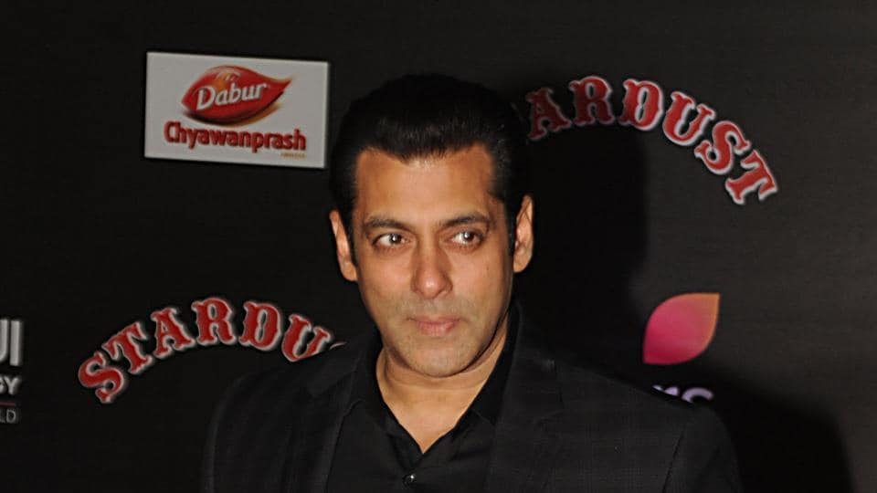 Salman Khan attends the 14th Stardust Awards 2016 ceremony in Mumbai.