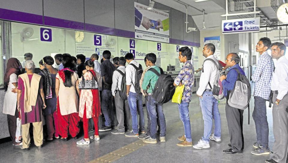 Delhi Metro,Delhi Metro station,Metro cashless