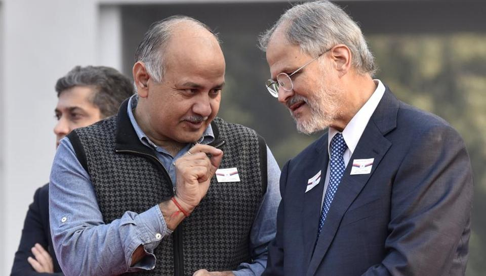 Deputy chief minister Manish Sisodia called on Najeeb Jung at his residence on Friday.