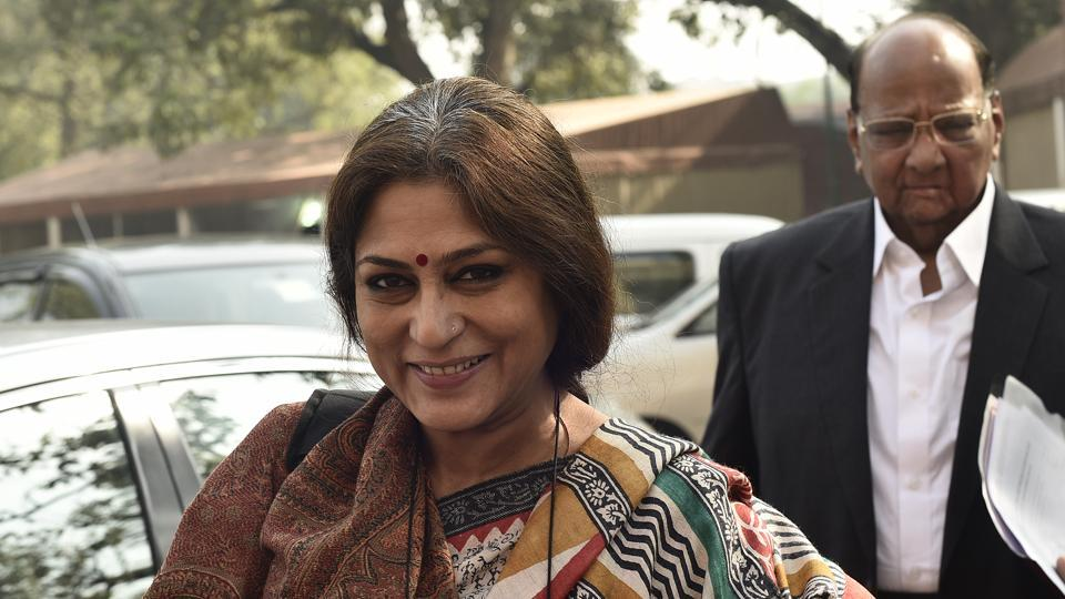 BJP leader Roopa Ganguly during winter session of Lok Sabha at Parliament in New Delhi.
