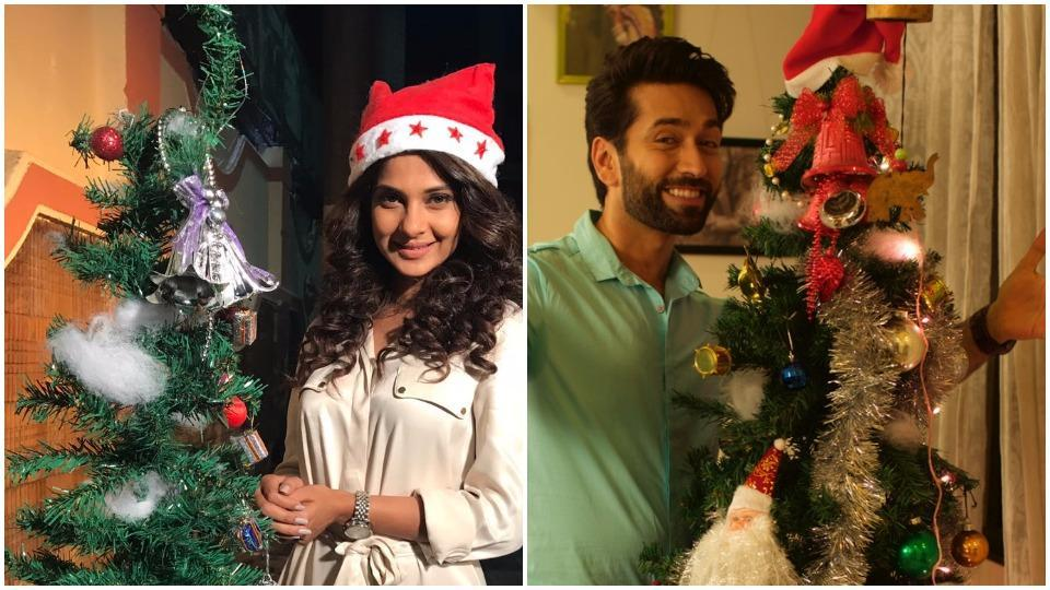 TV actors talk about how they celebrate Christmas.
