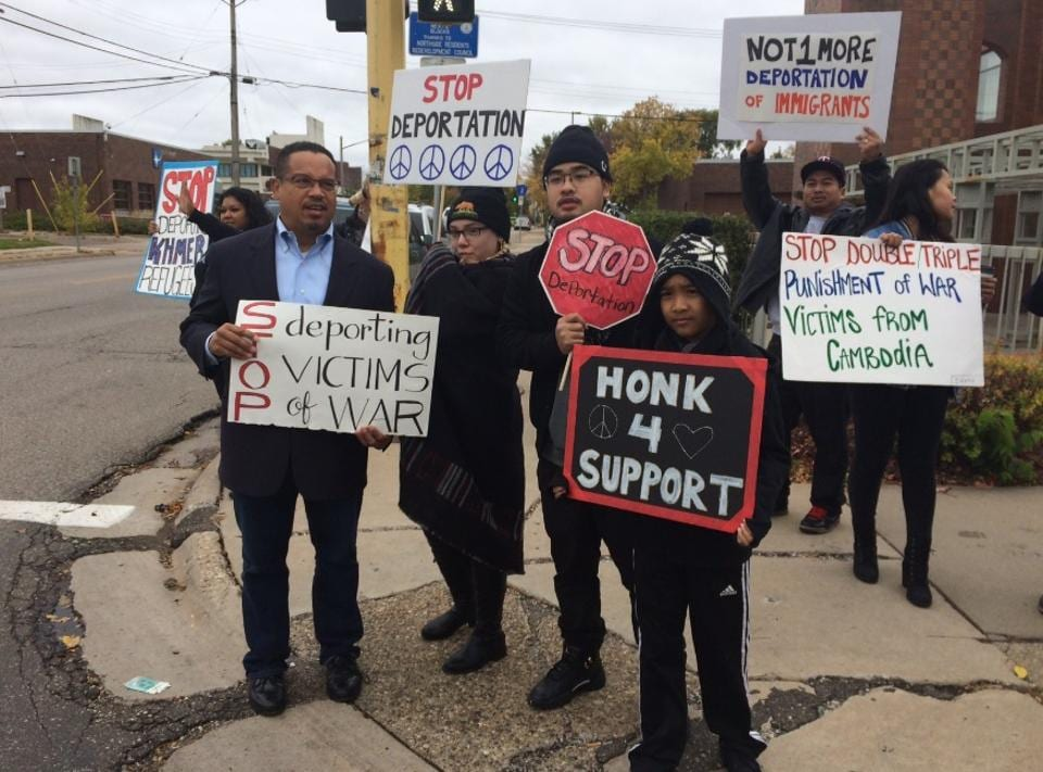 US Congressman Keith Ellison (left), a Democrat, has been a leading critic of India on religious freedom for decades.