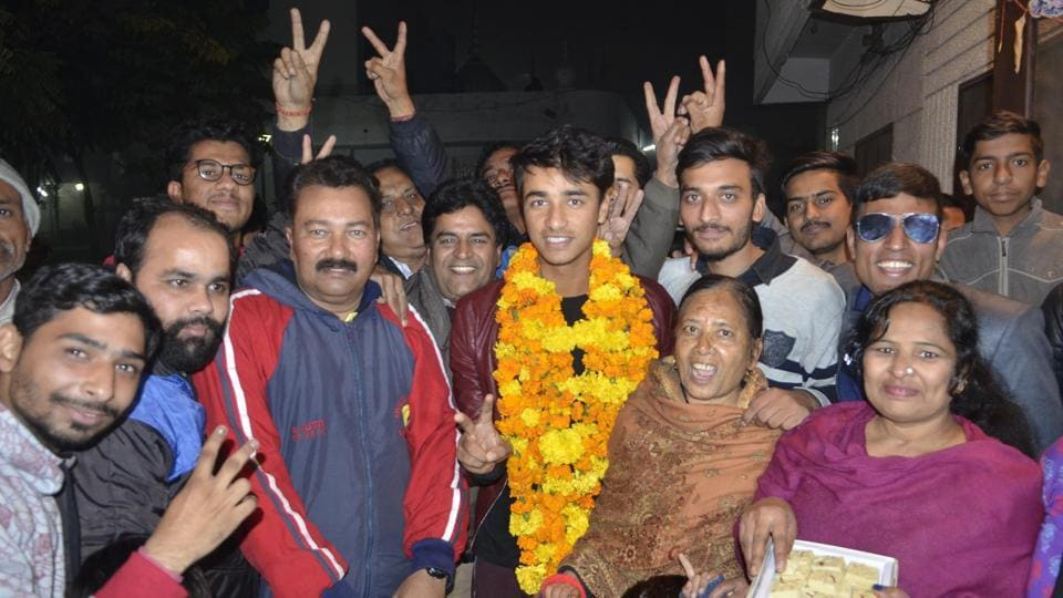 India captain Abhishek Sharma got a rousing welcome on his arrival in Amritsar on Saturday after leading the side to victory against Sri Lanka in the U-19 Asia Cup final in Colombo.