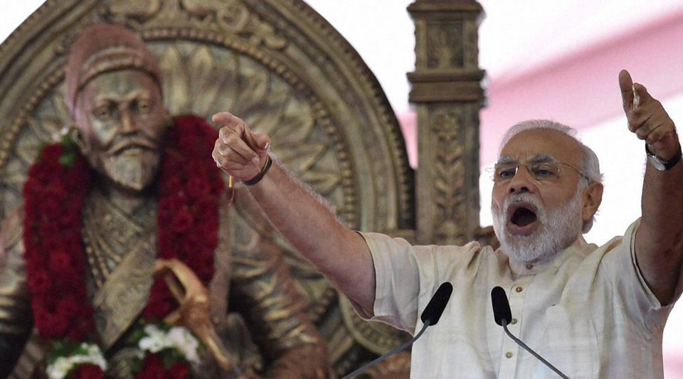 Prime Minister Narendra Modi addresses during the foundation stone laying ceremony of the two metro corridors and other projects, at Bandra Kurla Complex, in Mumbai on Saturday, Dec 24, 2016.