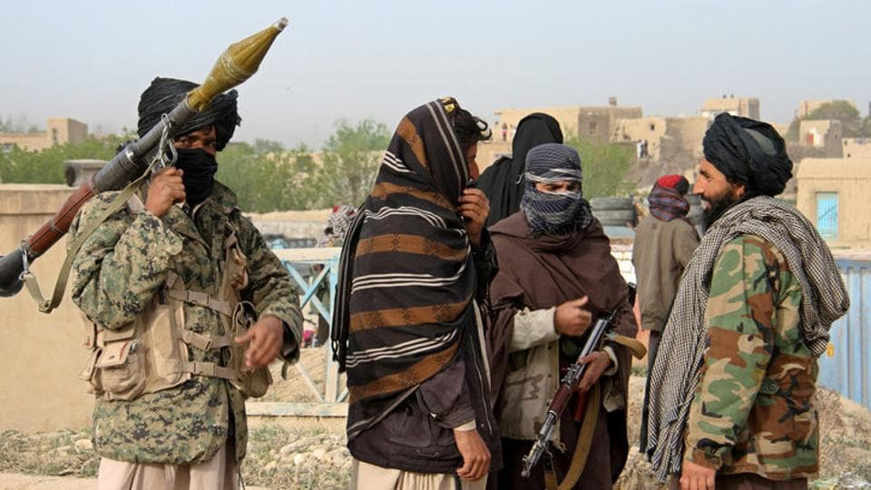 File photo of members of the Taliban in Ghazni province, Afghanistan.