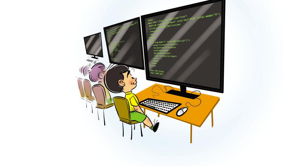 Students will be introduced to conditionals, sequences and loops and other concepts over the years.