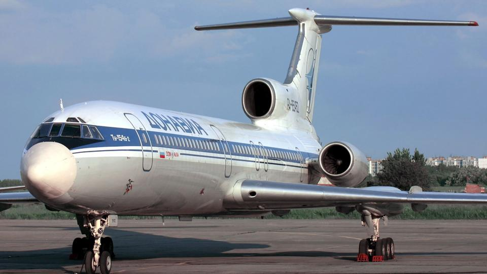 This file photo taken on January 2, 2001 shows a Tupolev-154 (TU-154) aircraft. A Russian military plane crashed on Sunday in the Black Sea as it made its way to Syria with 92 people on board.