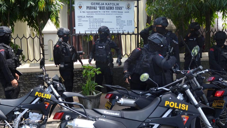 Indonesian anti-riot police.