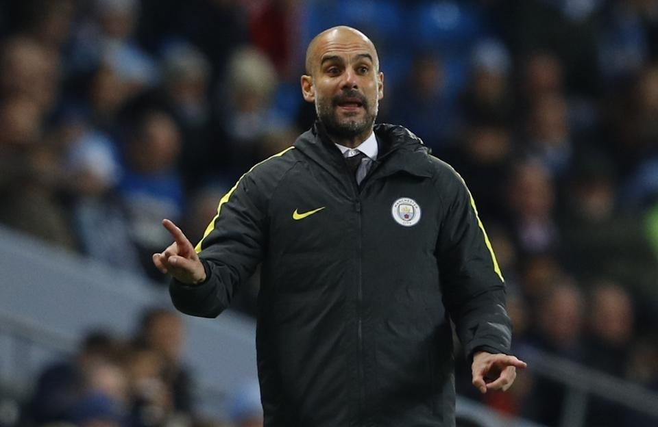 Manchester City manager Pep Guardiola during his team's Premier League encounter.