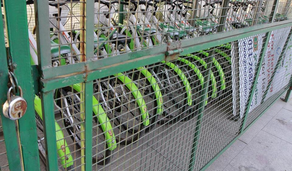 cycle stands,North Delhi Municipal Corporation's,Cycles in Delhi
