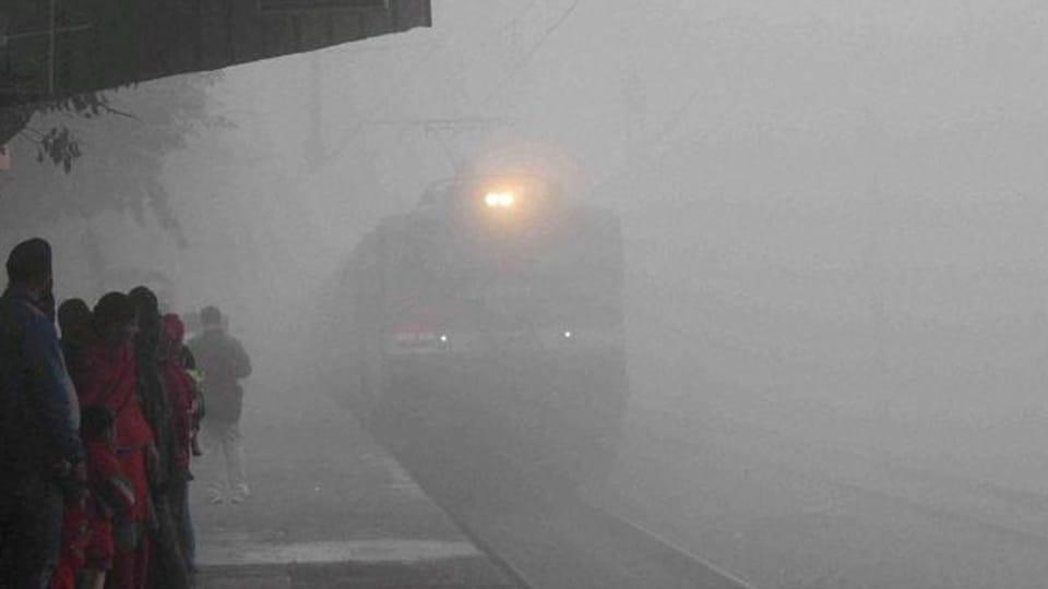 9 flights,10 trains,fog