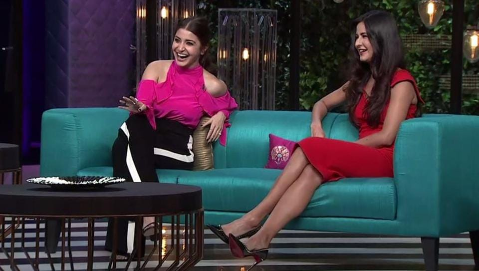 Actors and buddies Katrina Kaif and Anushka Sharma were subjected to the host's many question but by the end of the show, it was he who was grilled the most.