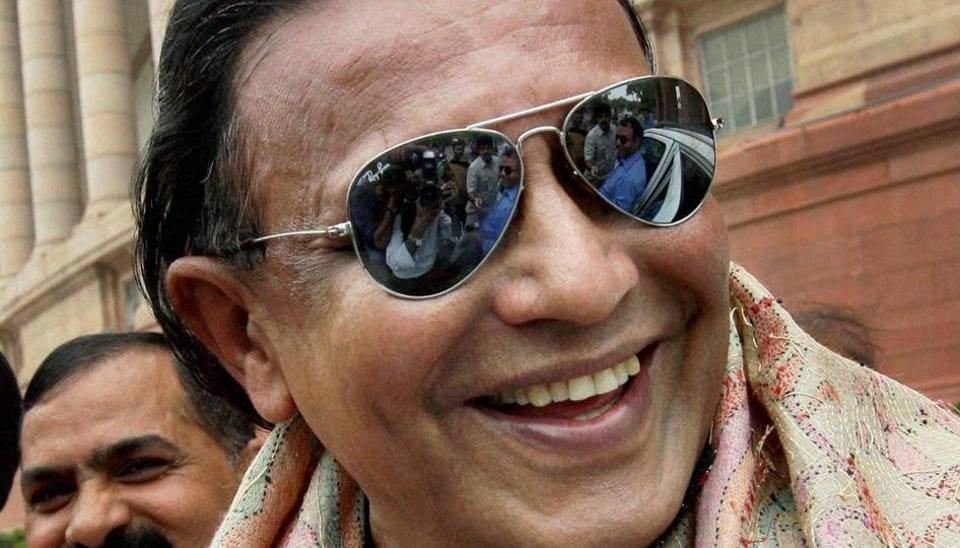 A file photo of actor Mithun Chakraborty, who resigned from the Rajya Sabha on Monday .