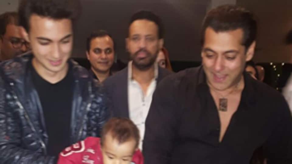 Salman Khan celebrated his birthday Monday evening.