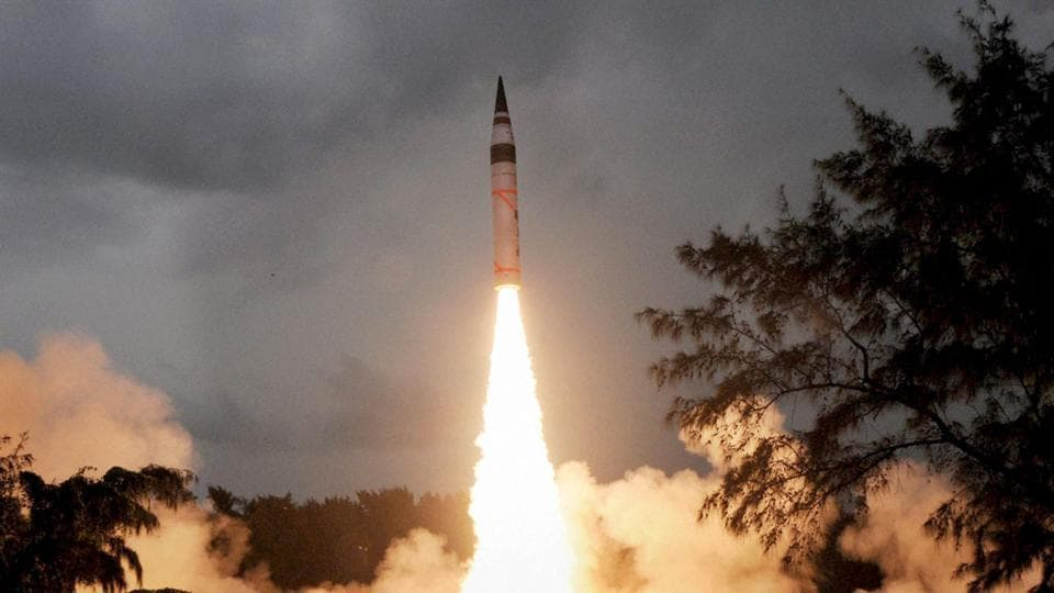 India conducted test flight of its indigenously developed nuclear-capable Agni V long range ballistic missile on December 26.