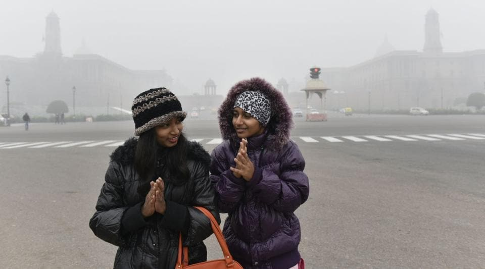 The low visibility in the national capital due to fog which made a comeback on Tuesday, after a day's gap.