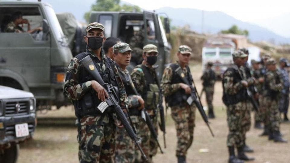 File photo of soldiers of the Nepal Army.