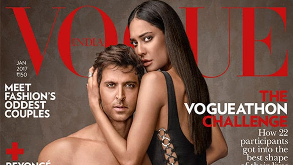 Speaking about their fitness mantra, the magazine described Hrithik as the 'Greek God with a mission' and Lisa as 'Beauty on the go.'