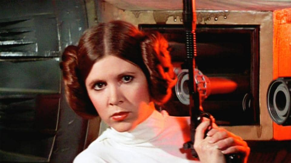 Carrie Fisher as Princess Leia in 1977's Star Wars.