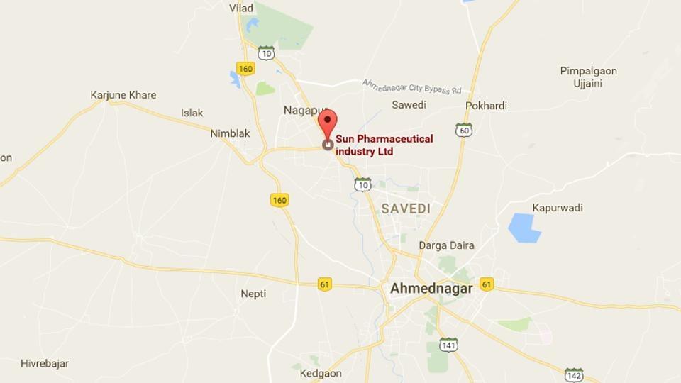 Sun Pharma unit,MIDC Ahmednagar,blast at a pharma unit