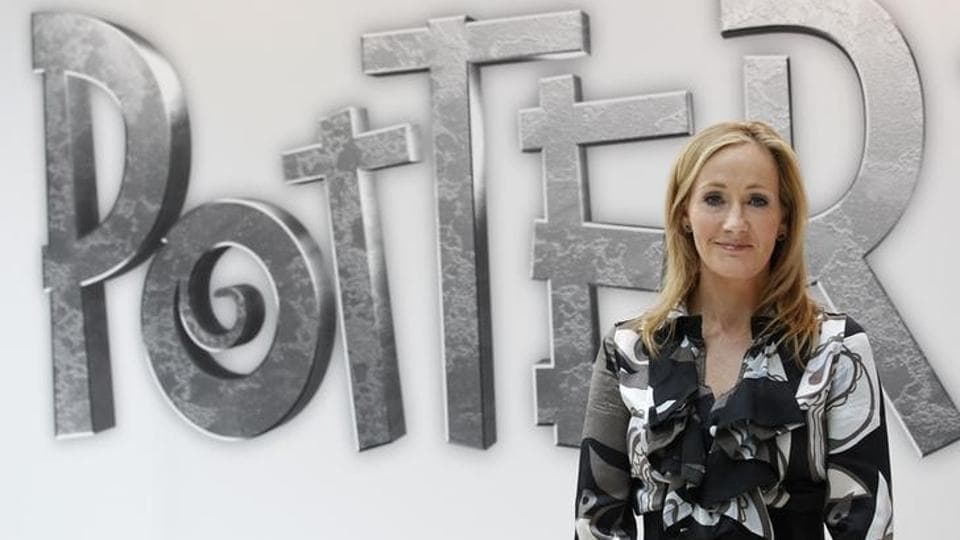 British author JK Rowling, creator of the Harry Potter series of books, poses during the launch of website Pottermore.