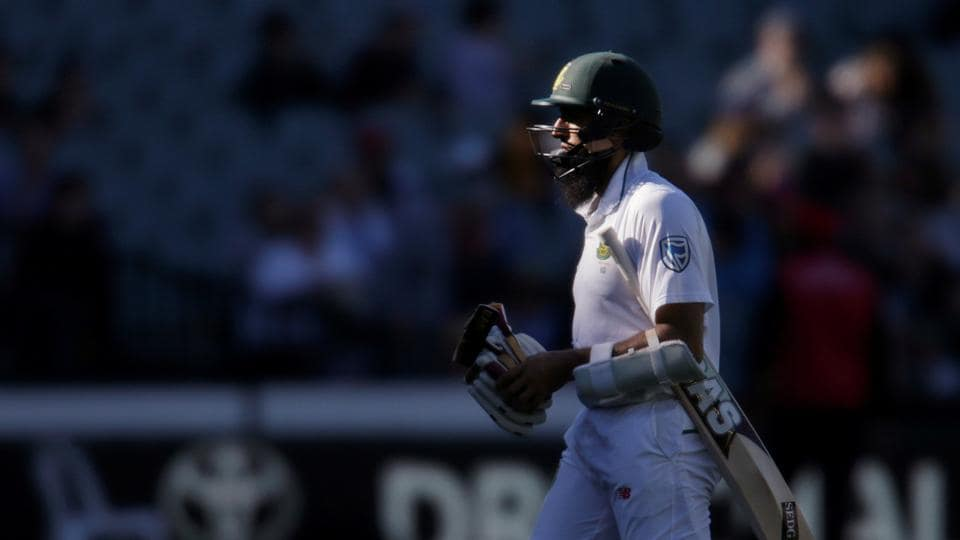 South Africa's Hashim Amla became the 10,000th batsman to be dismissed LBW in Test cricket.