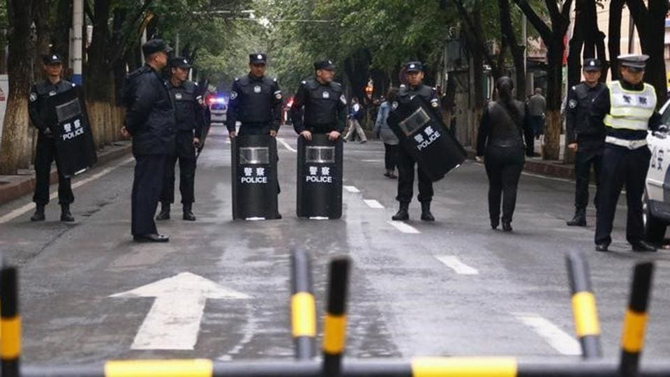 Attackers drove a car into a government building and set off an explosive device in China's Xinjiang region.