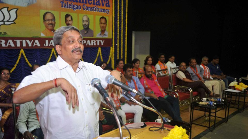 Union defence minister Mahonar Parrikar.